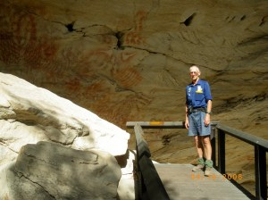 Rob in Cathedral Cave, Carnarvon Gorge